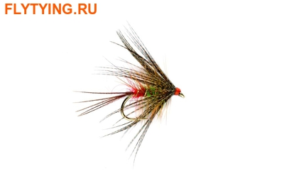 Fulling Mill 13095 Мокрая мушка Red Arsed Green Peter