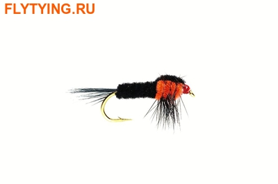 Fulling Mill 14283 Мушка нимфа Montana Orange Fluorescent Weighted