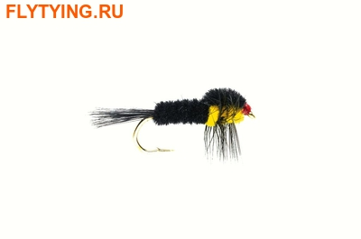 Fulling Mill 14287 Мушка нимфа Montana Yellow Weighted