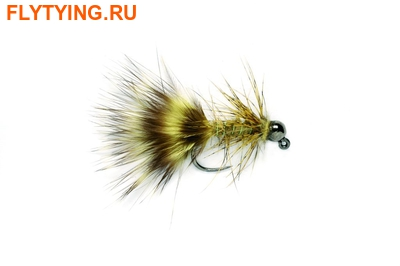 Fulling Mill 15204 Мушка стример Jig Bugger Olive TN