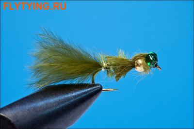Rusangler 14329 Мушка нимфа Gold Bead Damsel Marabou Olive