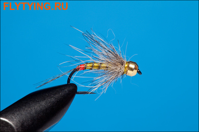 Rusangler 14332 Мушка нимфа MF and PD Light Olive Grayling Nymph