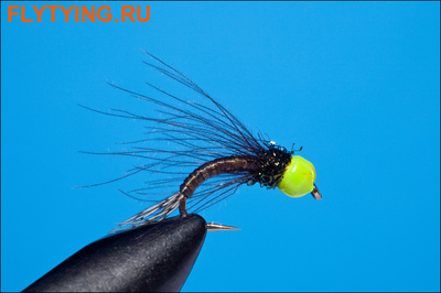 Rusangler 14334 Мушка нимфа Tungsten Chartreuse Bead Head Nymph