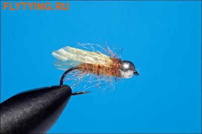 Rusangler 14336 Мушка нимфа Tungsten Silver Bead RM's Diving Caddis BL