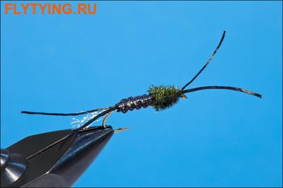 Rusangler 14337 Мушка нимфа Woven Tube Bug - Black/Clear