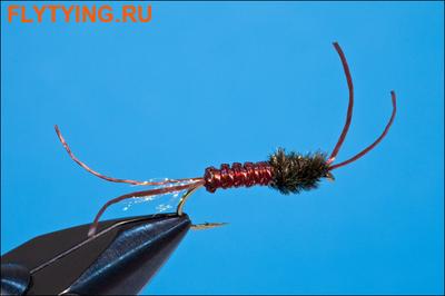 Rusangler 14338 Мушка нимфа Woven Tube Bug - Brown/Amber