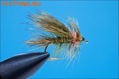 Rusangler 13158 Мокрая мушка Green Stimulator Wet