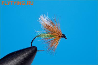 Rusangler 13169 Мокрая мушка Diving Caddis Green Barbless