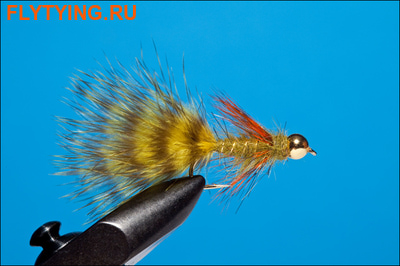 Rusangler 15274 Мушка стример Brass Gold Bead Olive Soft Hackle III