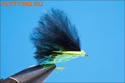 Rusangler 15301 Мушка стример RW's Mini Lure Black and Lime