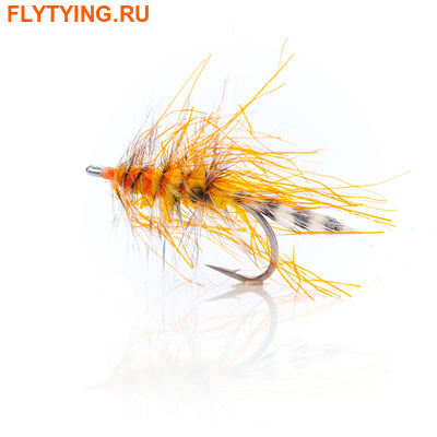 A.Jensen 16098 Кумжевая мушка Polar Chenille Shrimp Orange