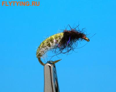 Artflies 14392 Мушка нимфа ручейника Vinyl Back Caddis Larva Olive (фото)