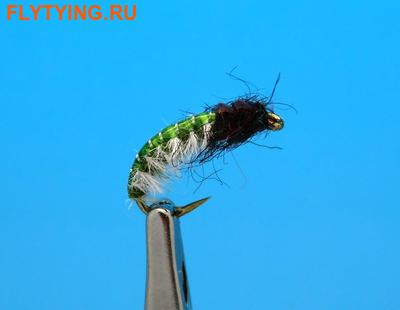 Artflies 14393 Мушка нимфа ручейника Vinyl Back Caddis Larva Green (фото)