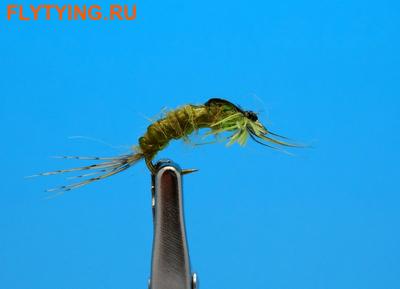 Artflies 14403 Мушка нимфа Bead Thorax Vinyl Rib Nymph Olive (фото)