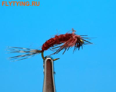 Artflies 14405 Мушка нимфа Bead Thorax Vinyl Rib Nymph Red Brown (фото)