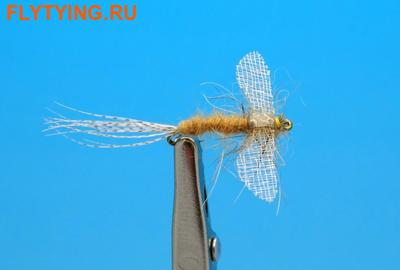Artflies 11200 Сухая мушка Burnt Wing Spinner Sulfur (фото)