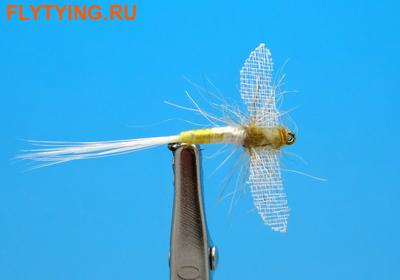 Artflies 11202 Сухая мушка Burnt Wing Spinner Light Cahill (фото)