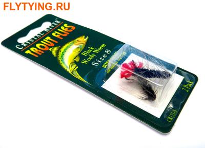 Crystal River 14433 Мушка нимф Wooly Worm Black (фото)