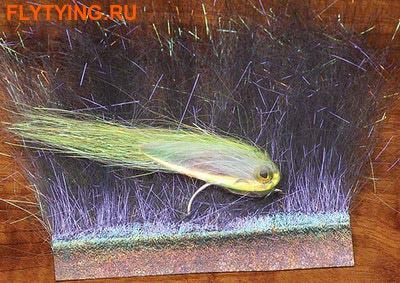 Hareline 54014 Синтетическое волокно Ice Dub Minnow Back Shimmer FriInge (фото)
