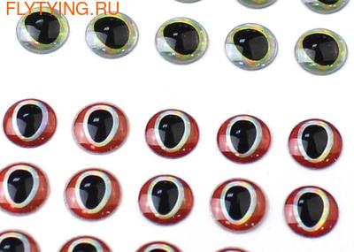 FLY-FISHING 58098 Самоклеющиеся глазки 3D Lure Eyes Set III (фото, Набор реалистичных объемных глаз для стримеров)