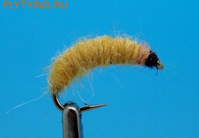 Mikkus & Caddis 14525 Мушка имитация личинки жука-короеда Larva Willow Bark Golden Yellow (фото, Mikkus & Caddis 14525 Мушка имитация личинки жука-короеда Larva Willow Bark Golden Yellow)