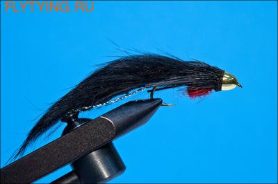 Rusangler 15074 Мушка стример Cone Head Zuddler Black