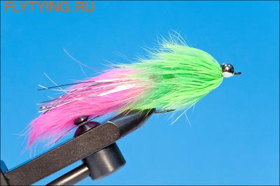 Rusangler 16041 Лососевая мушка Hare Ball Leech Pink Chartreuse