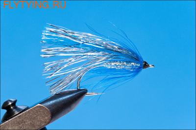 Rusangler 16051 Лососевая мушка Flash Fly Silver Blue