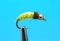 Mikkus & Caddis 14216 Мушка нимфа ручейника GH Caddis Larva Lt. Yellow Olive