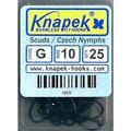 Knapek 60420 Крючок одинарный Scuds / Czech Nymph G