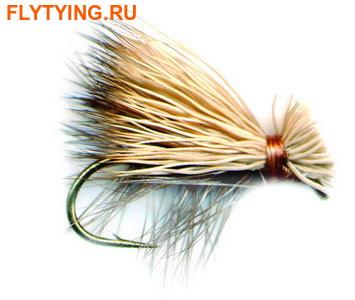 11093 Сухая мушка Elk Hair Caddis Gray