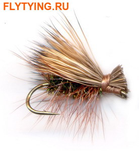 11094 Сухая мушка Elk Hair Caddis Peacock