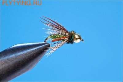 14160 Мушка нимфа  Bead Head Caddis Pupa Green