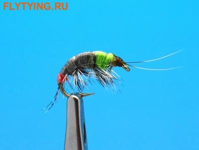14027 Мушка имитация бокоплава Freshwater Shrimp Grey/Chartreus