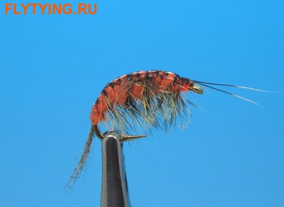 14035 Мушка имитация бокоплава Freshwater Shrimp  Orange Striped