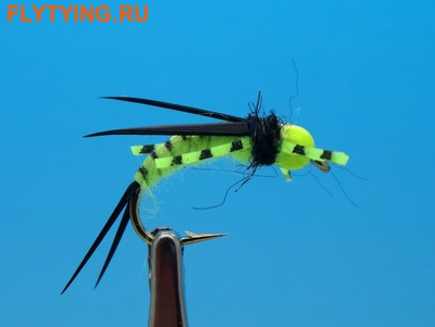 14053 Мушка нимфа BH Prince Nymph Rubber Leg Chartreuse