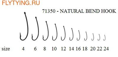 60181 Крючок одинарный KH-71350 NATURAL BEND HOOK