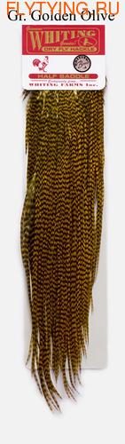53033 Половинки петушиных седел Rooster 1/2 Dry Fly Saddle Bronze