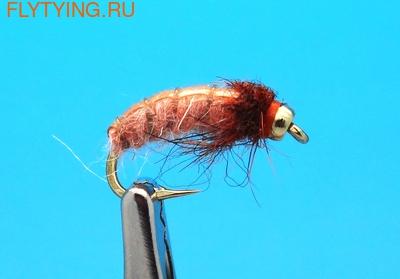 14214 Мушка нимфа ручейника GH Caddis Larva Cinnamon