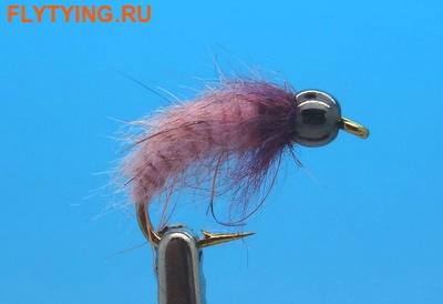 14229 Мушка нимфа куколка ручейника BH Fluffy Caddis Larva Pinkish Lavender