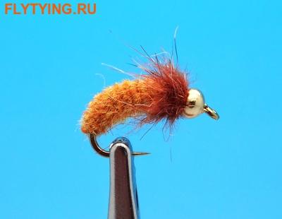 14235 Мушка нимфа куколка ручейника GH Caddis Pupa Ribbing Cinnamon