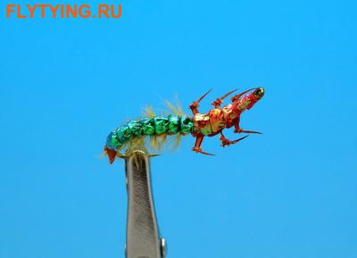 14391 Мушка нимфа ручейника Realistic Hydropsyche Larva