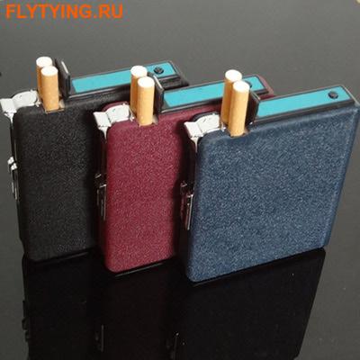 93006 Автоматический портсигар-зажигалка Lighter Cigarette Case II