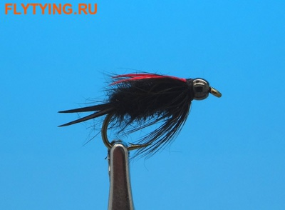 14426 Мушка нимфа Great Lake Bead Prince Nymph Black/Red Wing