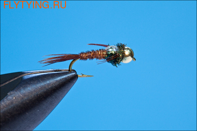 14116 Мушка нимфа Bead Head Pheasant Tail Neon(Bead Head Pheasant Tail FB)