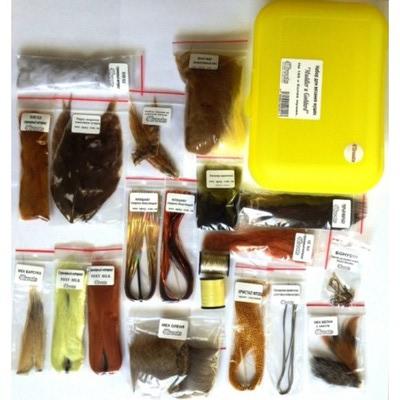 4Trouts 59509 Набор материалов для вязания мушек из меха оленя Muddler-Goddard Flies Set (фото, вид 1)