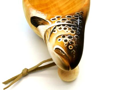 93065 Деревянная финская кружка Wooden Kuksa (фото, вид 2)