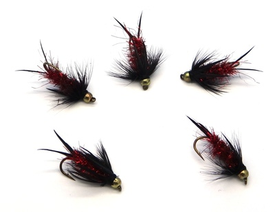 Pacific Fly Group 14447 Мушка нимфа Bead Prince Nymph Red (фото, вид 1)