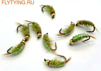 Pacific Fly Group 14523 Мушка нимфа Bead Scud Dirty Yellow (фото, Pacific Fly Group Bead Scud Dirty Yellow)