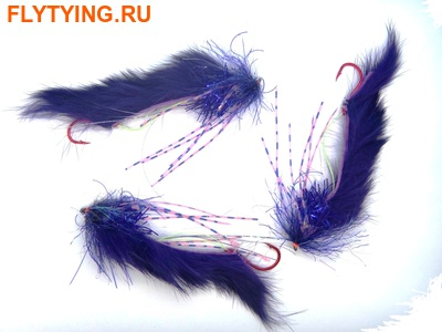 SFT-studio 16012 Лососевая мушка String Leech Purple (фото)